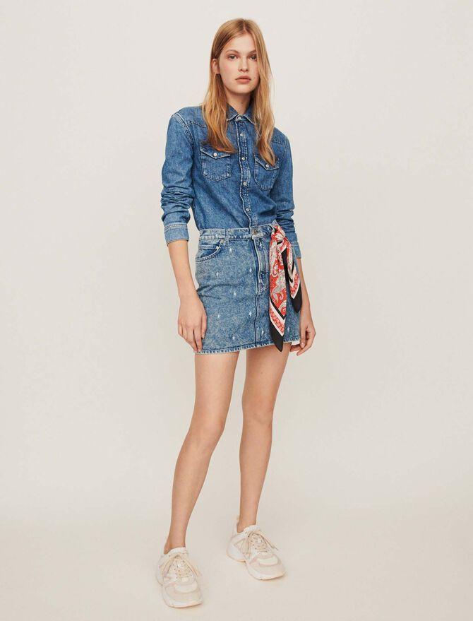Ausgewaschenes Jeanshemd - Kleider - MAJE