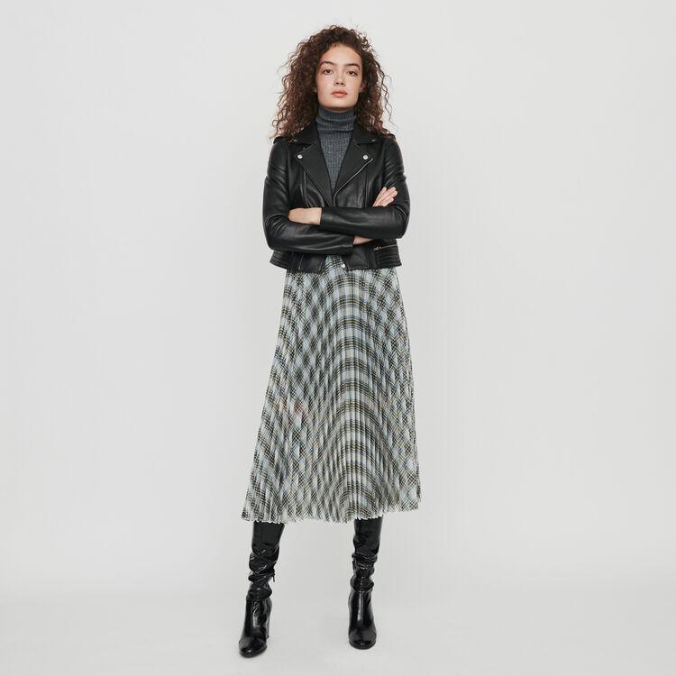 Plissee Karo Rock aus Organza : Röcke & Shorts farbe Mehrfarbigen