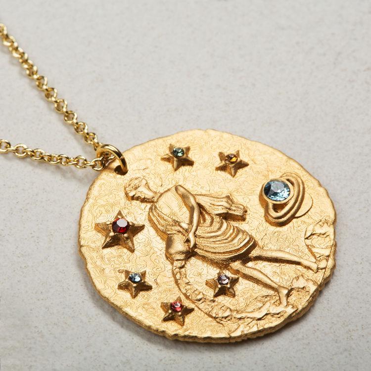 Collier Sternzeichen Wassermann : Medaillons farbe OR
