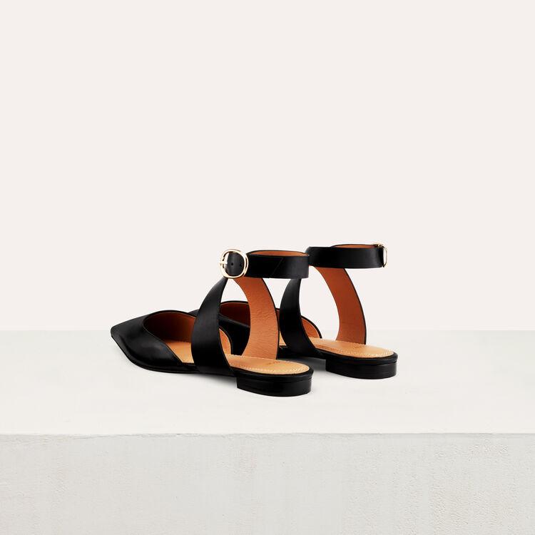 Flache Pumps im Pantoletten-Stil : Schuhe farbe Schwarz