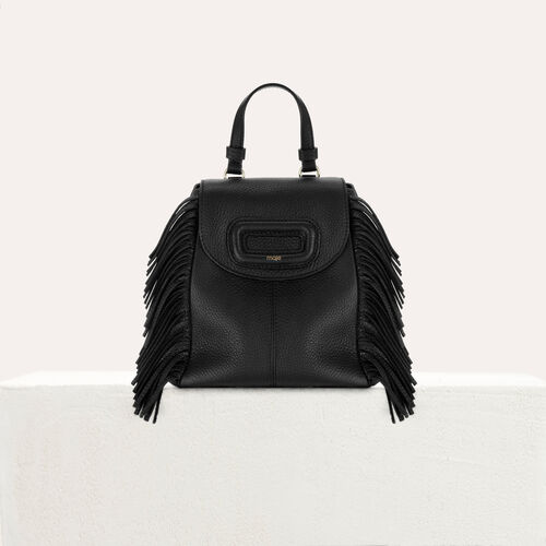 M Mini Rucksack mit Kette aus Leder : Andere M farbe Schwarz