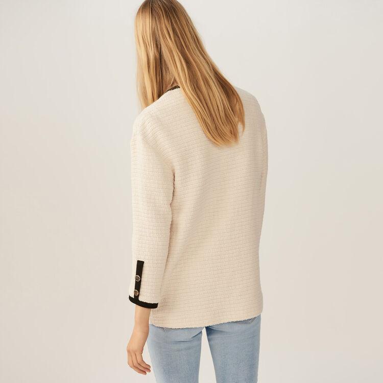 Lockere Tweedjacke : Bekleidung farbe Ecru