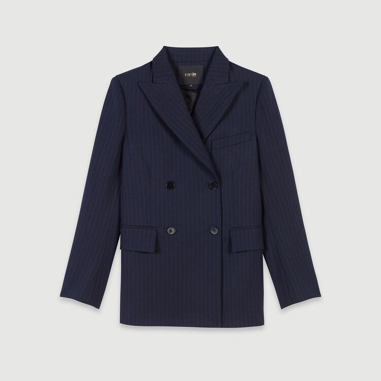 Doppelt-geknöpfte Jacke mit Streifen : Blazers farbe Marineblau