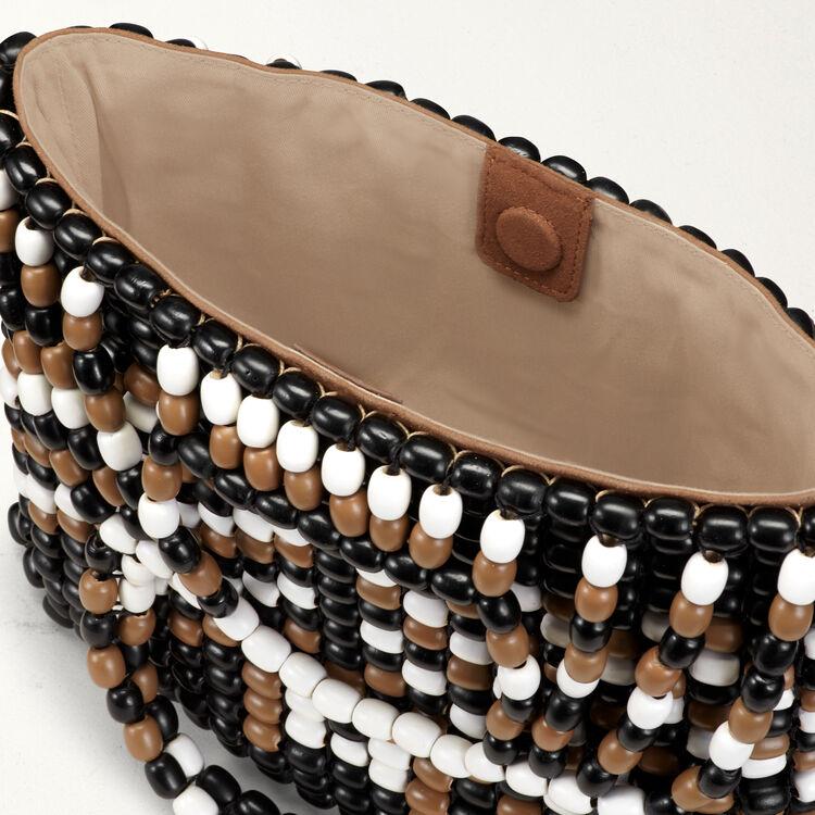 M-Tasche aus Perlen : M Tasche farbe Mehrfarbigen