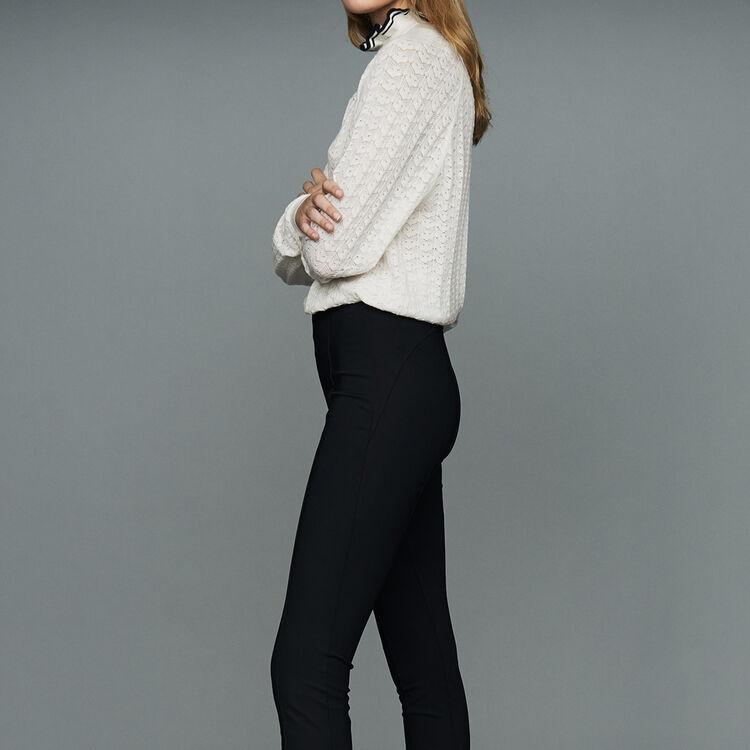 Sport-Legging aus technischem Gewebe : Hosen farbe Schwarz