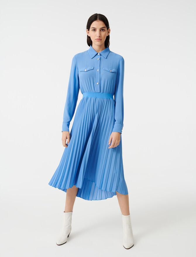 Hemdkleid mit gekräuselter Taille - Kleider - MAJE
