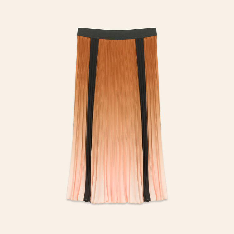 Plissee-Rock in Batikoptik : Jupes & Shorts farbe Orange