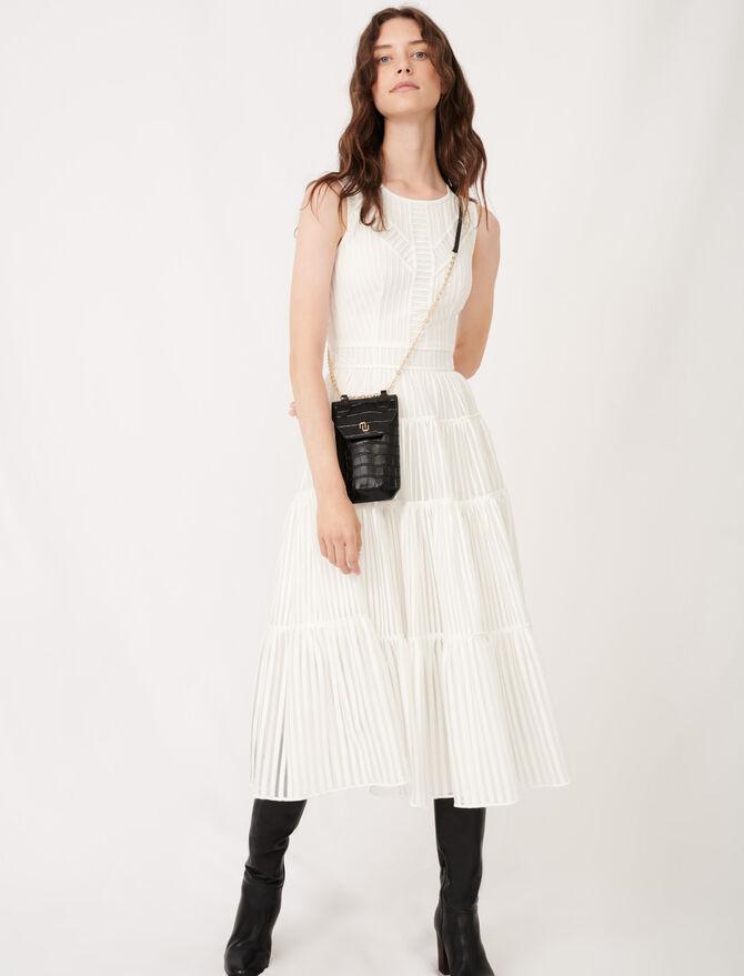 Langes Festkleid mit modischen Details - Kleider - MAJE