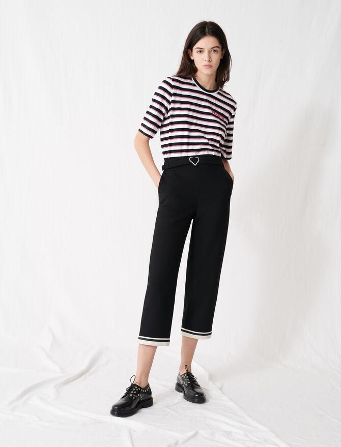 Hose mit Herzschnalle und Sporty-Saum - Hosen & Jeans - MAJE