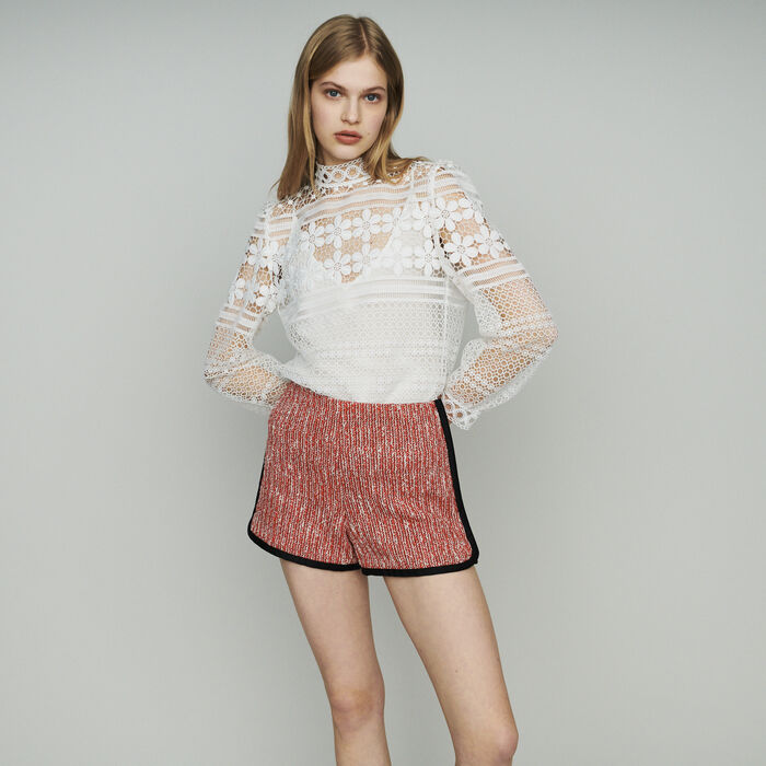 Shorts mit Tweed-Effekt : Röcke & Shorts farbe Rot