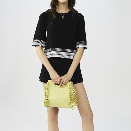 Kurzärmeliger Oversize-Pullover : Strickwaren farbe Schwarz