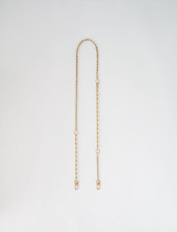 마쥬 백 스트랩 MAJE Removable chain for handbag,Gold