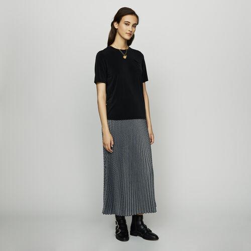 T-Shirt aus Cupro : Neue Kollektion farbe Schwarz