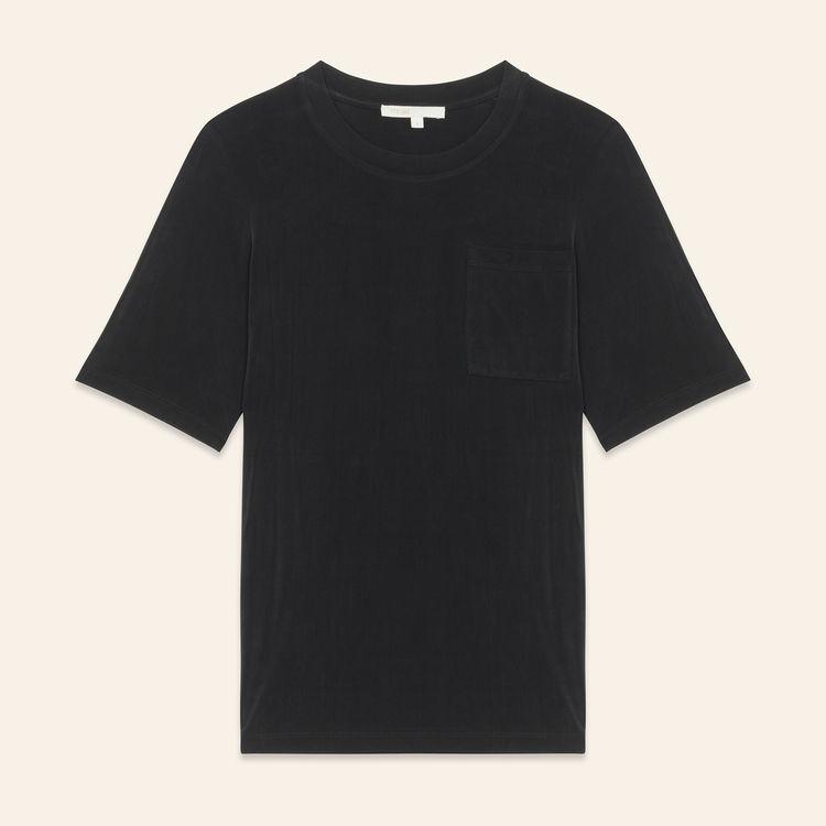 T-Shirt aus Cupro : Bekleidung farbe Schwarz