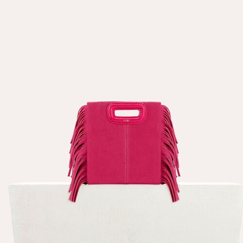 M mini Tasche aus veloursleder : M Tasche farbe Rosa