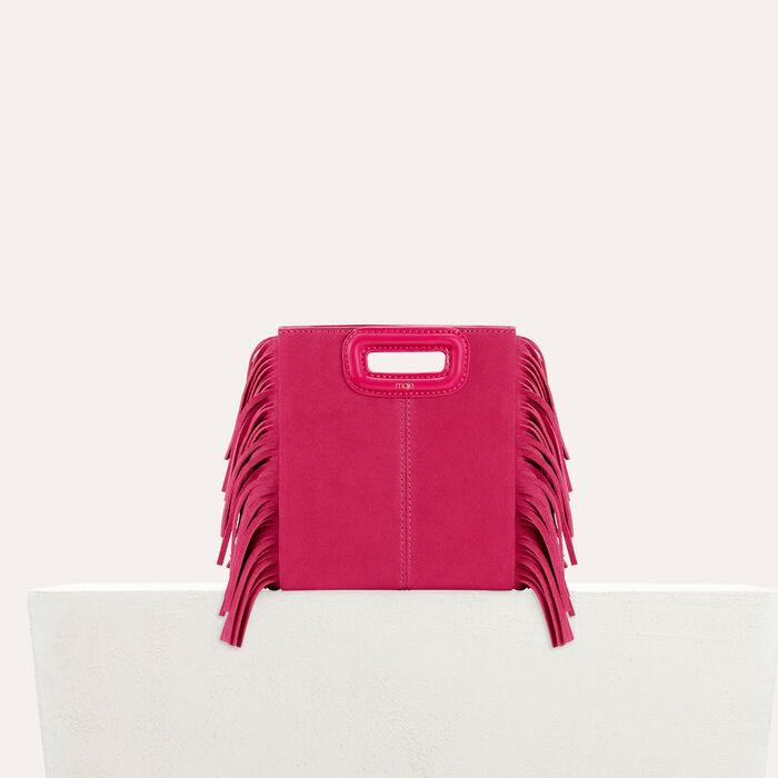 M mini Tasche aus veloursleder : Sommerkollektion farbe Rosa