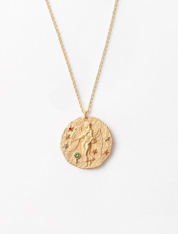 마쥬 MAJE Sternzeichen Jungfrau Halskette,Or