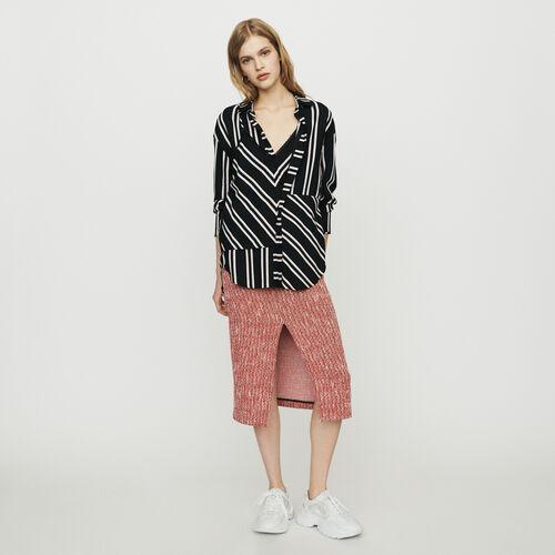 Trompe-l'oeil-Bluse mit Streifenmuster : Tops & Hemden farbe Gestreift