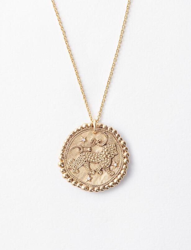 마쥬 MAJE Sternzeichen Loewe Halskette,Antik Messing