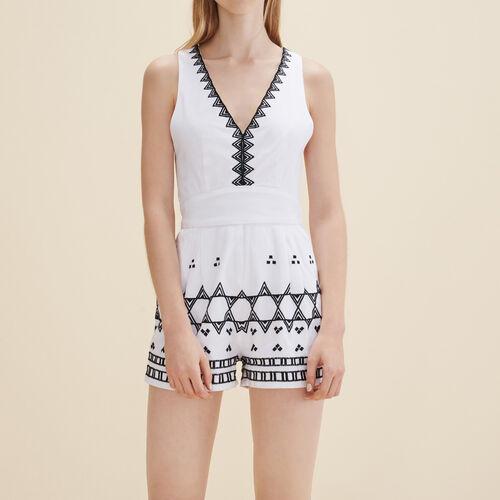 Ärmellose Combishorts : Röcke und Shorts farbe Ecru