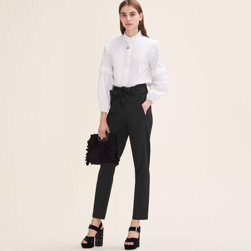 Karottenhose mit Schleife : Hosen & Jeans farbe Schwarz