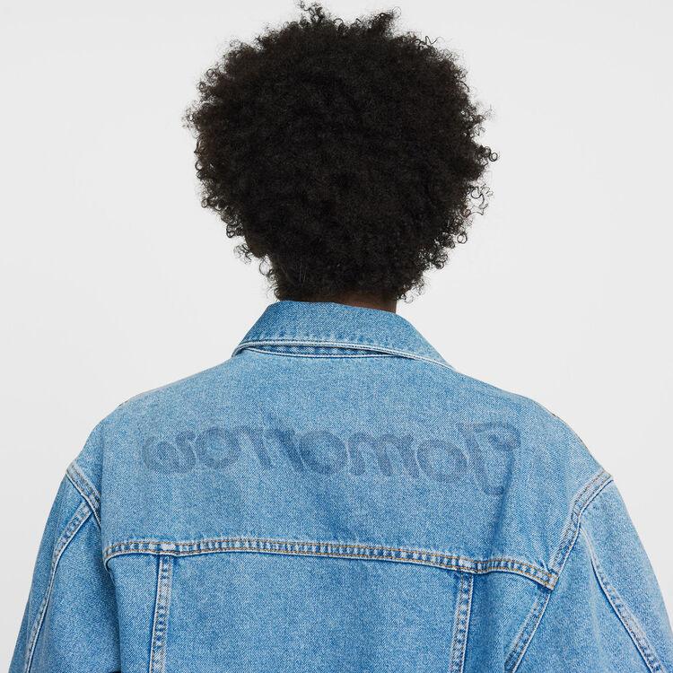 Kurze Jeansjacke : Jacken farbe Denim
