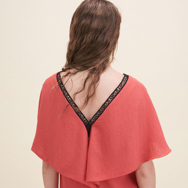 Gerade geschnittenes Kleid aus Crêpe : Robes farbe Orange