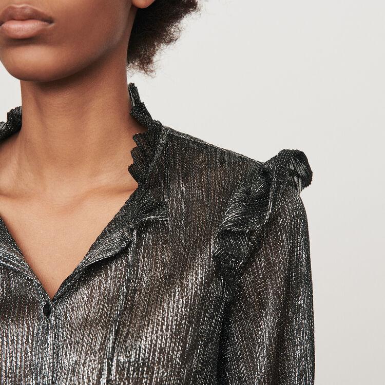 Rüschen Bluse aus Lurex : Tops & Hemden farbe Silber
