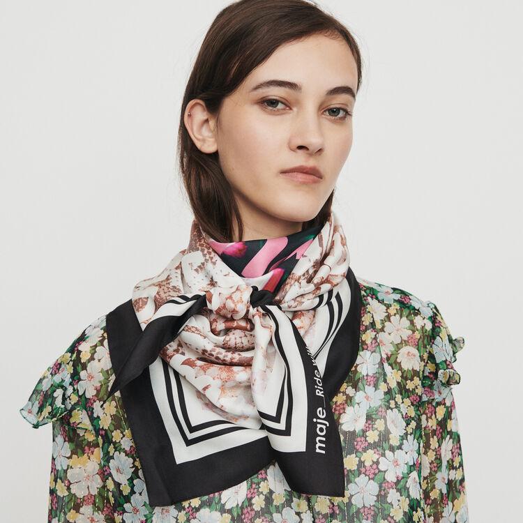 Großes Seidentuch : Schals & Ponchos farbe Mehrfarbigen