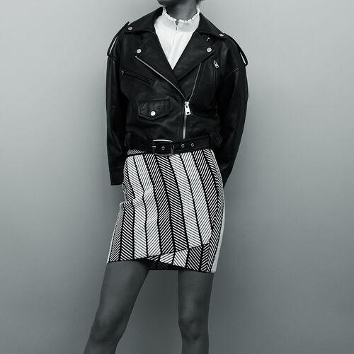 Wickelrock aus Strick : Jacken farbe Schwarz
