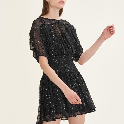 Kleid mit Beflockungsdetails - Kleider - MAJE