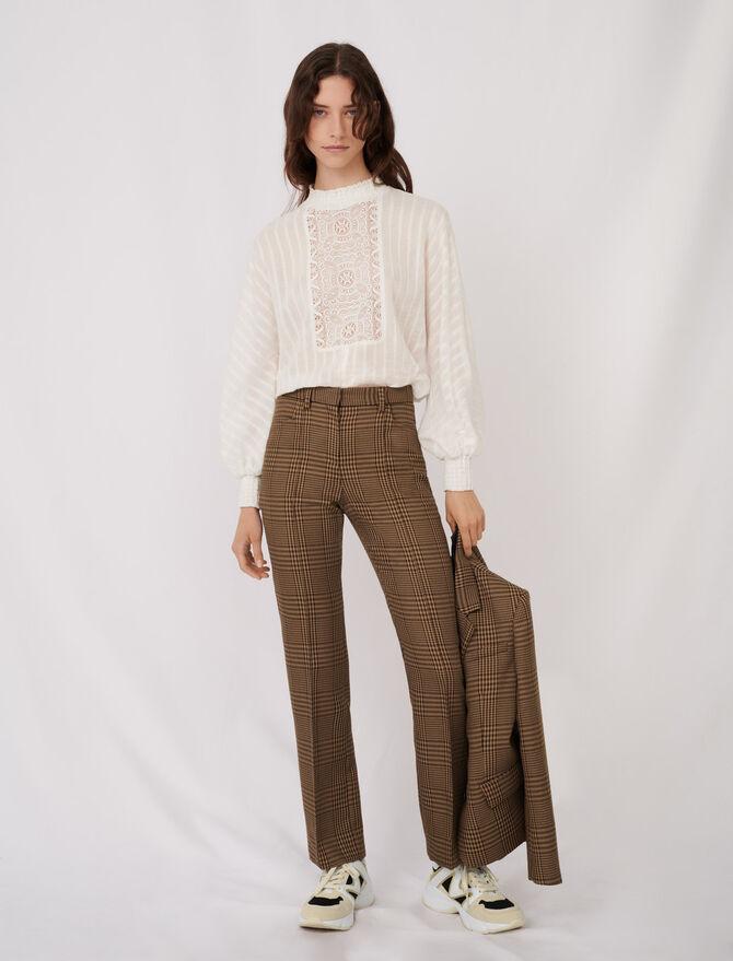 Karohose mit geradem Schnitt - Hosen & Jeans - MAJE