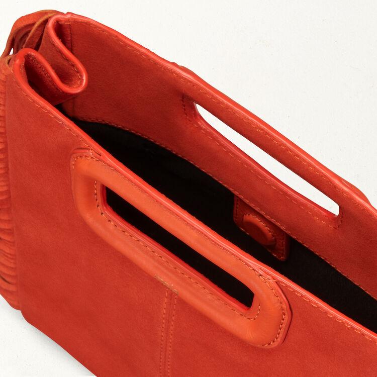 M Tasche aus Veloursleder : M Tasche farbe Orange