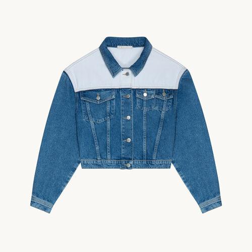 Zweifarbige Jacke aus Jeans - null - MAJE