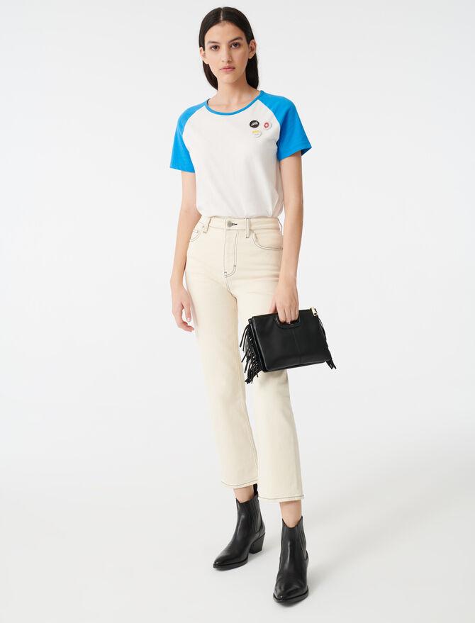 Gerade Jeans mit gesteppten Nähten - Hosen & Jeans - MAJE