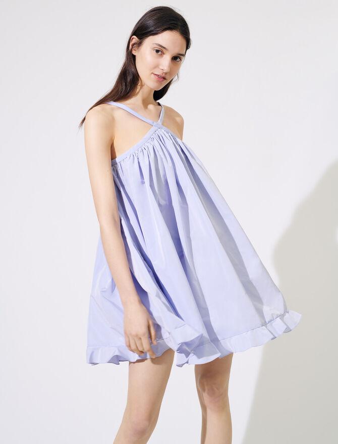 Babydoll-Kleid aus Taft - Kleider - MAJE