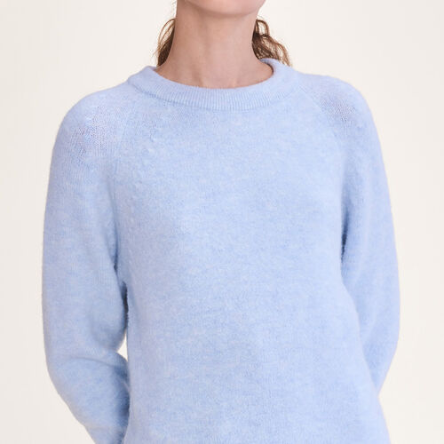 Weiter flauschiger Pullover : Pulls & Cardigans farbe Himmelblau