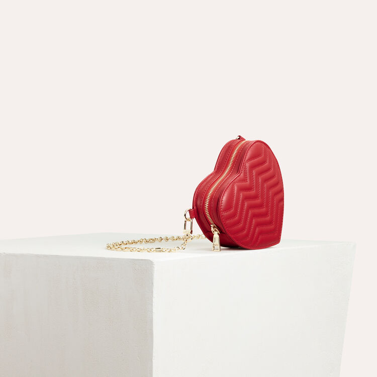 Gesteppte Umhängetasche aus Leder : Das Wesentliche farbe Rot