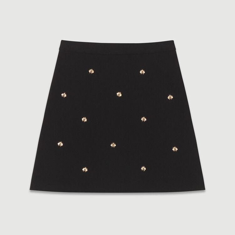 Rock mit Bienenstickerei : Röcke & Shorts farbe Schwarz