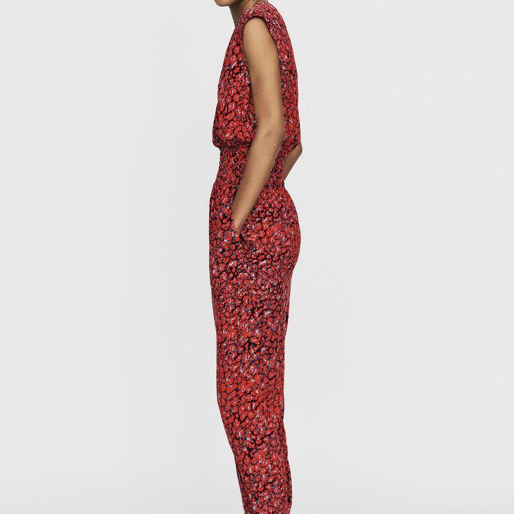 Ärmelloser Jumpsuit mit Leoparden-Print : Jumpsuits farbe IMPRIME