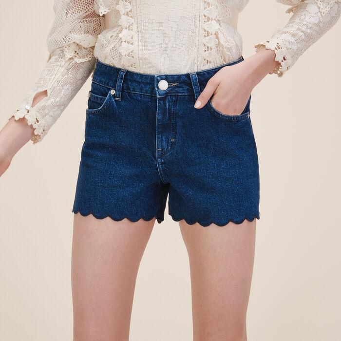 Shorts aus Denim -  - MAJE