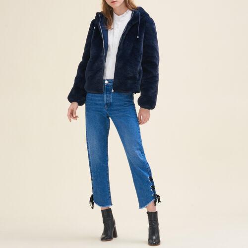 Kurze Jacke aus Kunstpelz - Jacken - MAJE