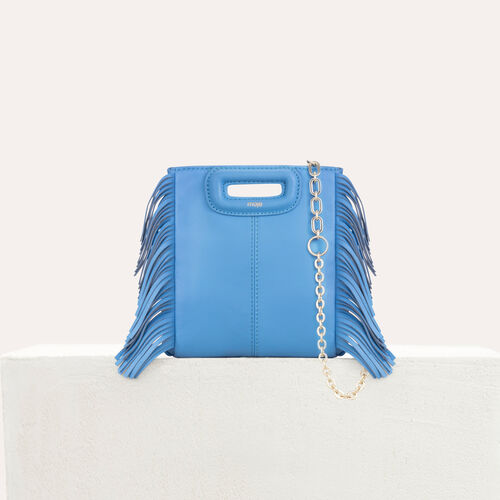 M Mini Tasche aus Veloursleder mit Kette : M Mini farbe Schwarz