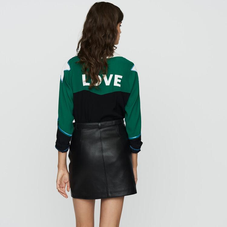 Kurzer Lederrock : Röcke & Shorts farbe Schwarz