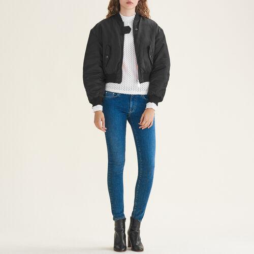 Skinny-Jeans aus Stretchbaumwolle : Jeans farbe Blau