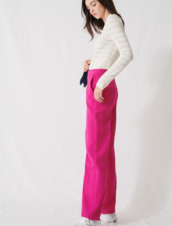 Anzughose in Fuchsienrosa - Die ganze Kollektion - MAJE
