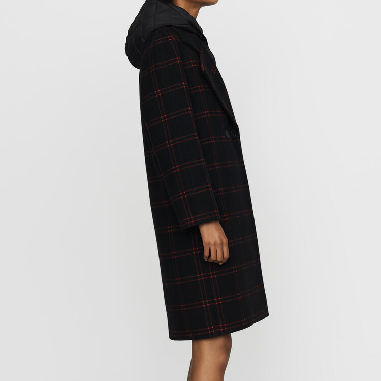Karo-Mantel mit abnehmbarer Daunenjacke : Mäntel farbe CARREAUX
