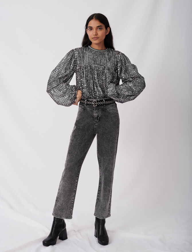 Gerade Jeans mit modischem Gürtel - Hosen & Jeans - MAJE