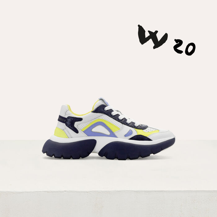 W20 Ledersneaker : Sneakers farbe Blau
