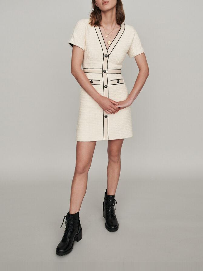 Kleid mit Tweed-Effekt - Kleider - MAJE